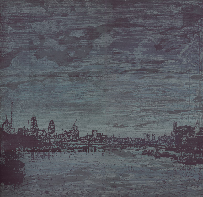 Artwork - Bridge - East etched and cut lino Print | Steve Edwards - etched and cut lino